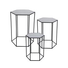 Hexagon Accent Tables, Set of 3