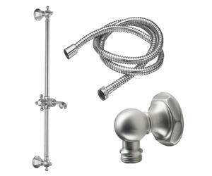 Slide Bar Handshower Kit - Cross Handle With Hex Base Product Image