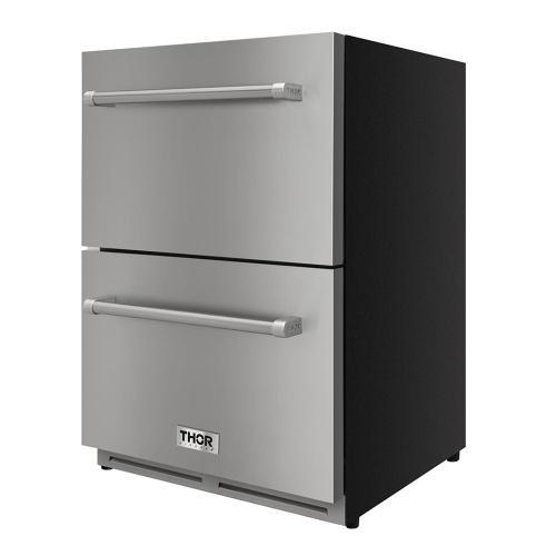Thor Kitchen - 24 Inch Indoor Outdoor Refrigerator Drawer In Stainless Steel