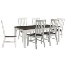 See Details - Hanover Willow Way 7-Piece Dining Set with Rectangle Table and 6 Wood Side Chairs, HDR009-7PC-WH
