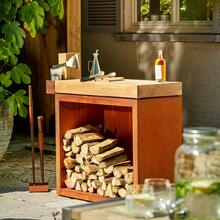 View Product - OFYR Butcher Block Storage 90 Corten Teak Wood