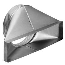"""See Details - 4-1/2"""" x 18-1/2"""" to 10"""" Round Transition; 6"""" High, Lateral for Rear Discharge"""