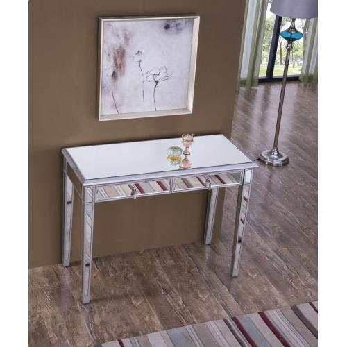 Vanity Table 42 in. x 18 in. x 31 in. in Silver paint