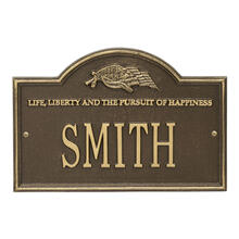 See Details - Life and Liberty Personalized Plaque - Antique Brass