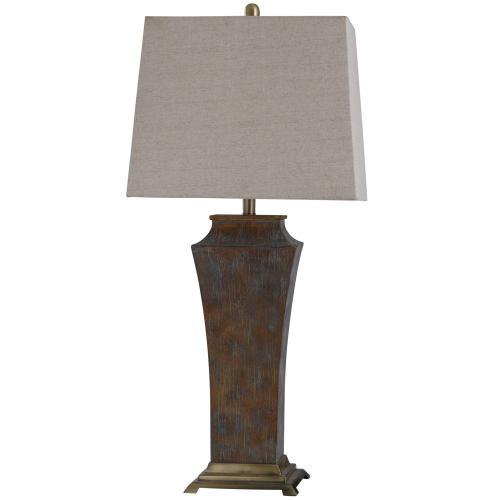 Girona Blue  34in Cast & Metal Base Table Lamp  100 Watts  3-Way