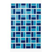 Hge04 Ivory / Blue Rug