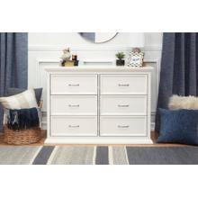 Warm White Foothill-Louis 6-Drawer Dresser