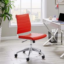 See Details - Jive Armless Mid Back Office Chair in Red