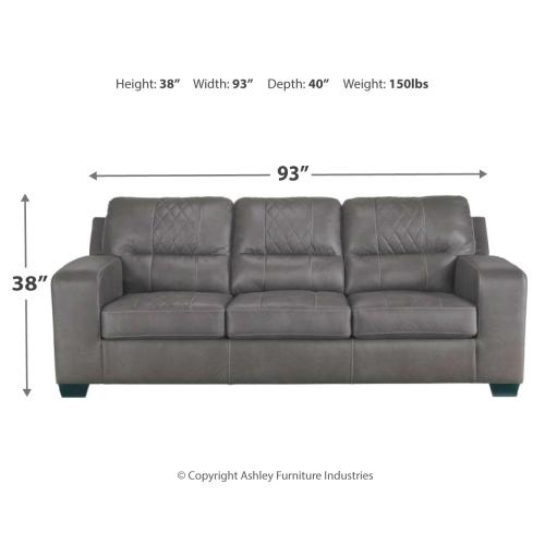 Narzole Sofa & Loveseat Dark Gray