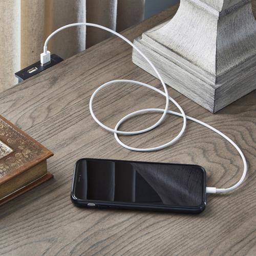 Pulaski Furniture - Bristol 3 Drawer USB Charging Nightstand in Elm Brown