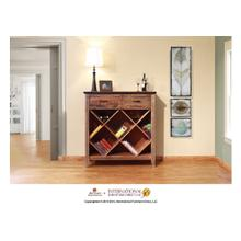 See Details - Multicolor Bookcase & Wine w/2 drawers