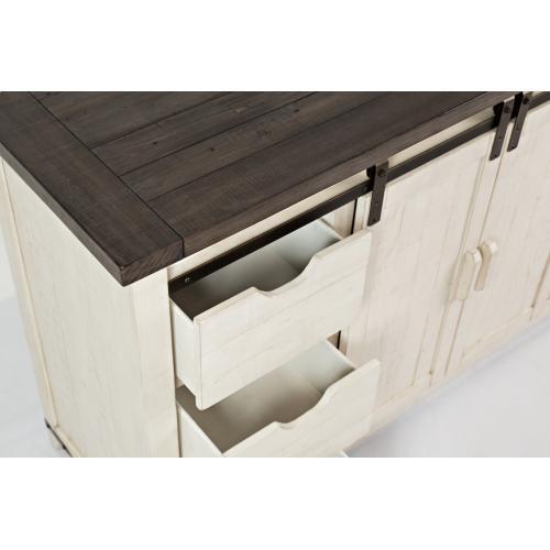 "Jofran - Madison County 60"" Barn Door Server, Vintage White"