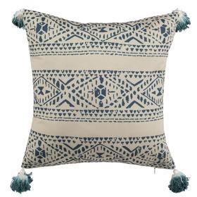 Valen Pillow - Beige / Blue