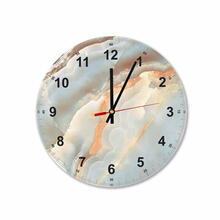 Soft Marble Round Square Acrylic Wall Clock
