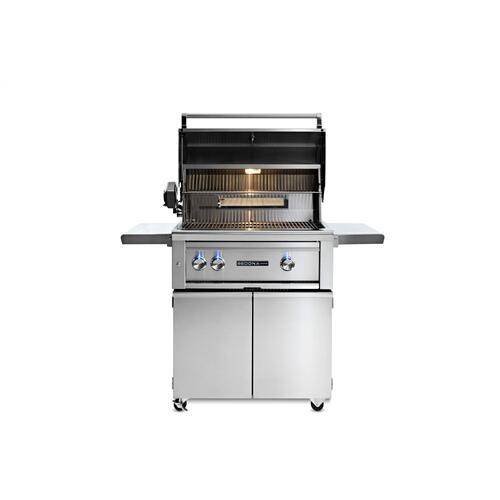 "30"" Sedona by Lynx Freestanding Grill with 1 Stainless Steel Burner and ProSear Burner and Rotisserie, NG"