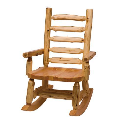Rocking Chair - Natural Cedar - Wood seat