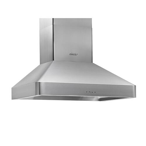 "30"" Chimney Wall Hood, Silver Stainless Steel"