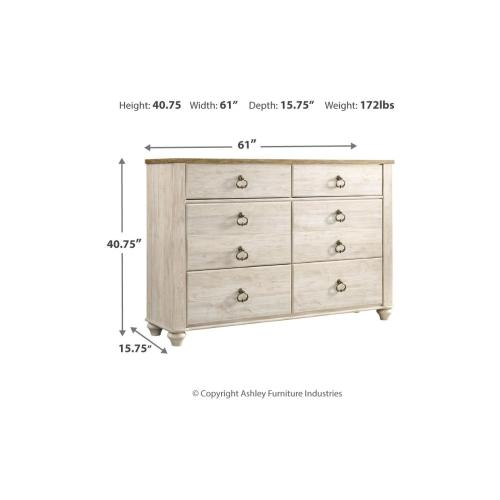 Willowton Dresser Whitewash