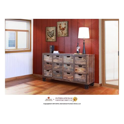 Artisan Home Furniture - Multi-drawer Console w/12 numbered drawers