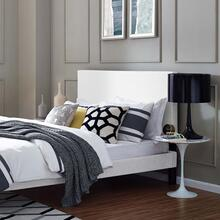 Taylor Twin Upholstered Linen Fabric Headboard in White