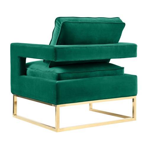 Avery Green Velvet Chair
