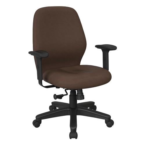 Mid Back 2-to-1 Synchro Tilt Chair With 2 -way Adjustable Soft Padded Arms