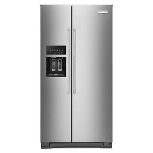 KITCHENAID22.6 cu ft. Counter-Depth Side-by-Side Refrigerator with Exterior Ice and Water and PrintShield(TM) finish - Stainless Steel with PrintShield(TM) Finish