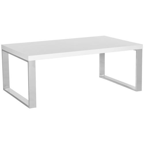 Rockford Coffee Table - White & Chrome