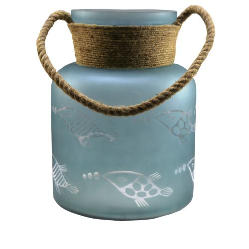 Crestview Collections - Large Fisher Hurricane with Rope Handle