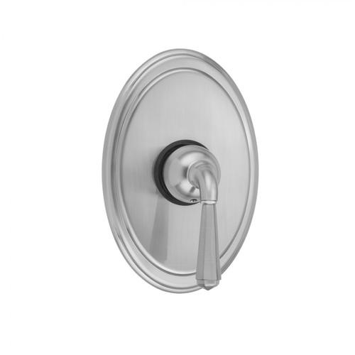 Satin Chrome - Oval Plate With Hex Lever Trim For Pressure Balance Valve (J-PBV)