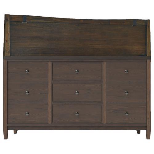 Queen Panel Headboard With Dresser