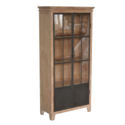 Darlington 2 Door Wood and Metal Curio