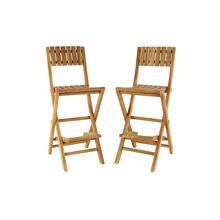 "TEAK BAR CHAIR S/2 18""W, 45""H"