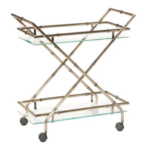 Lanai Serving Cart In Antique Brass Finish
