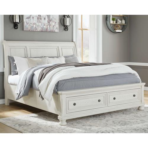Robbinsdale California King Sleigh Bed With Storage