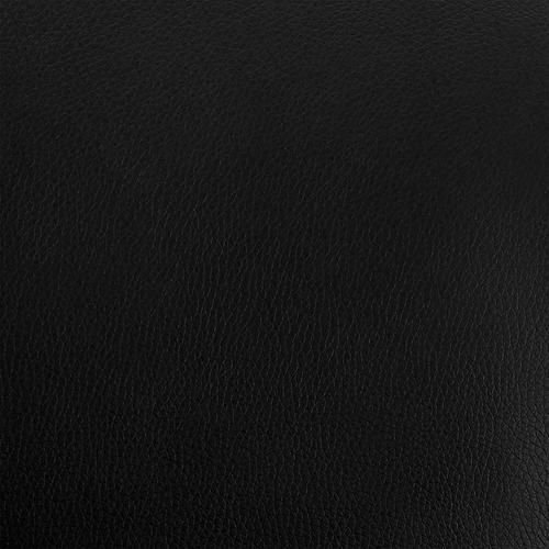 "Armen Living - Aura Black Faux Leather and Black Metal Swivel 30"" Bar Stool"