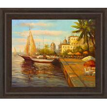 "View Product - ""Ocean Port Framed Print Wall Art"