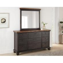 Bear Creek Dresser and Mirror, Brown