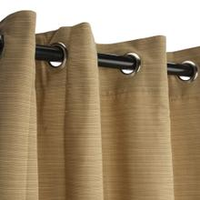 See Details - Sunbrella Dupione Bamboo Outdoor Curtain with Grommets