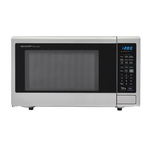 Sharp Appliances1.4 cu. ft. 1000W Sharp Stainless Steel Carousel Countertop Microwave Oven