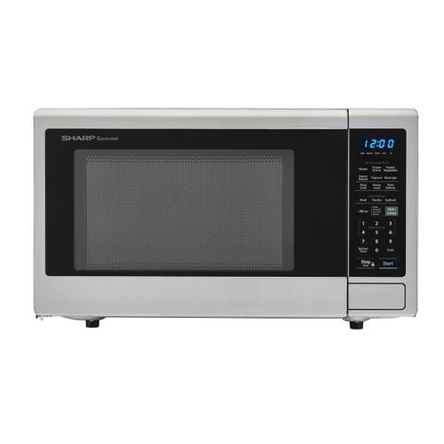 View Product - 1.4 cu. ft. 1000W Sharp Stainless Steel Carousel Countertop Microwave Oven