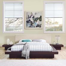 Freja 3 Piece Queen Fabric Bedroom Set in Cappuccino Beige