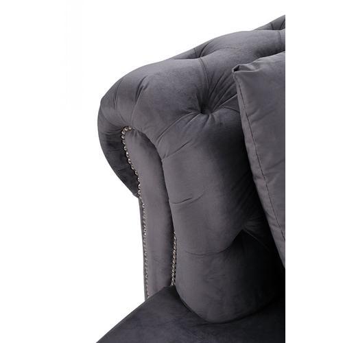 Divani Casa Darla Modern Grey Velvet Circular Sectional Sofa