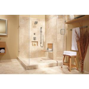 90 Degree brushed nickel eco-performance handshower
