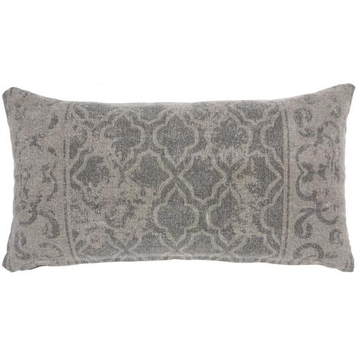 "Life Styles Gt650 Grey 16"" X 32"" Lumbar Pillow"