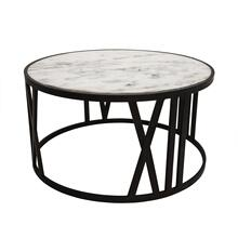 "30"" Round Coffee Table, Black"