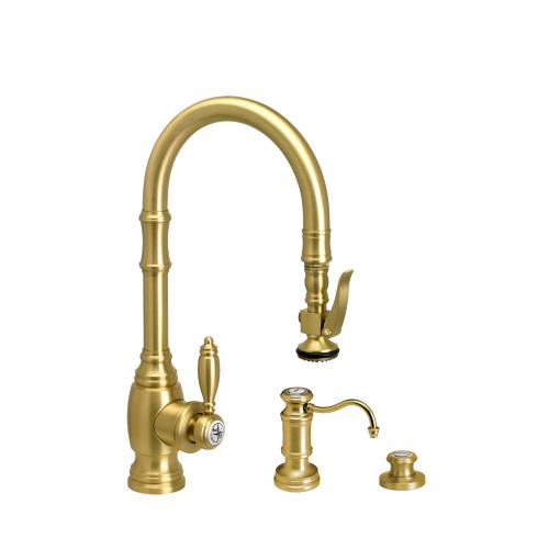 Traditional Prep Size PLP Pulldown Faucet 3pc Suite - 5200-3 - Waterstone Luxury Kitchen Faucets