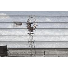 Rusted Windmill On Woodannacoppel (small) (framed)
