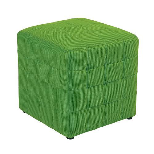 "Detour 15"" Green Fabric Cube"