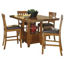 5 PIECE SET (PUB TABLE AND 4 BARSTOOLS)